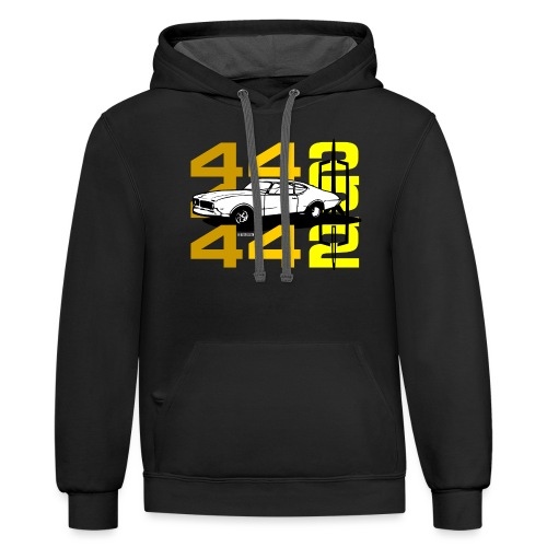 auto_oldsmobile_442_002a - Unisex Contrast Hoodie