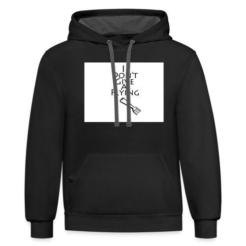 I Don't Give A Flying Fork - Contrast Hoodie