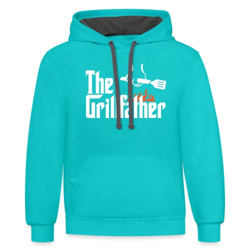 The Grillfather - Contrast Hoodie