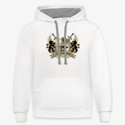 HOLY SPIRIT GOLD SHIELD - Contrast Hoodie