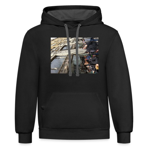 Middle finger by JRL - Contrast Hoodie