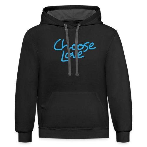 Love and Kindness - Unisex Contrast Hoodie