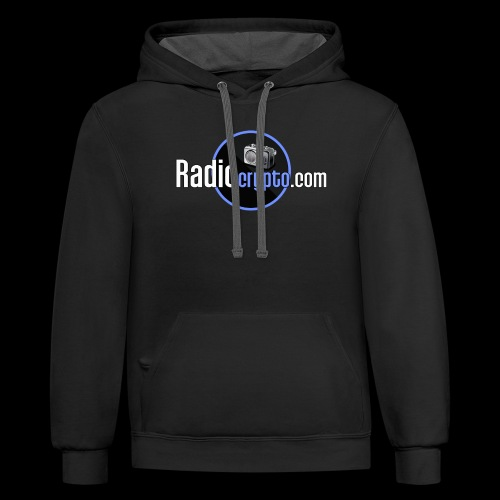 RadioCrypto Logo 1 - Unisex Contrast Hoodie