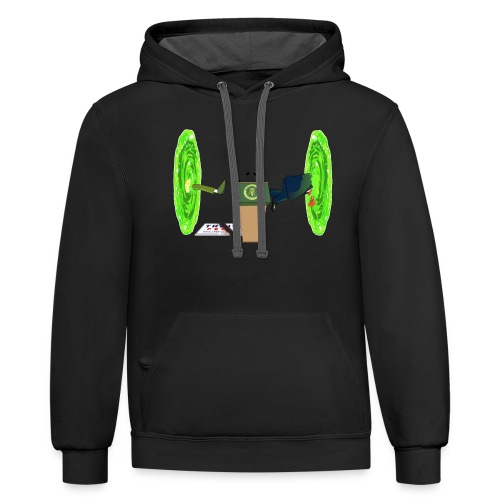 Trump and the Space Portal - Contrast Hoodie