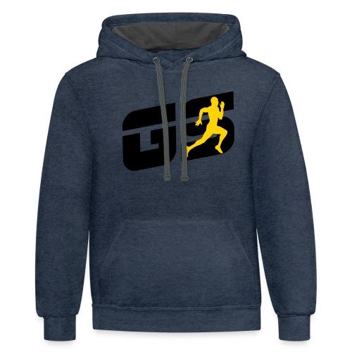 sleeve gs - Contrast Hoodie