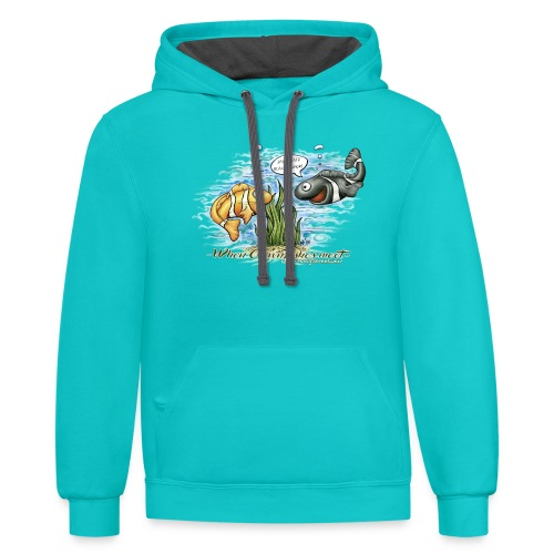 when clownfishes meet - Contrast Hoodie