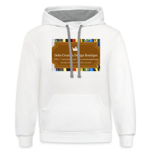 Debs Creative Design Boutique with site - Contrast Hoodie