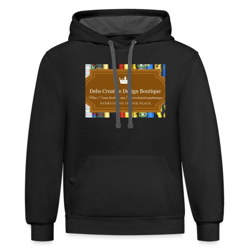 Debs Creative Design Boutique with site - Unisex Contrast Hoodie