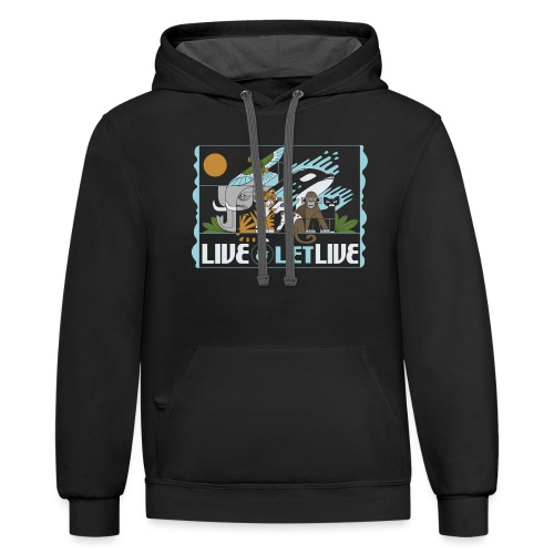 Live and Let Live - Unisex Contrast Hoodie