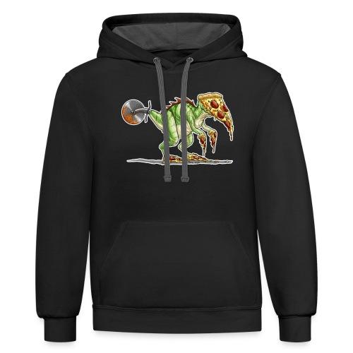 pizzasaurus - Contrast Hoodie
