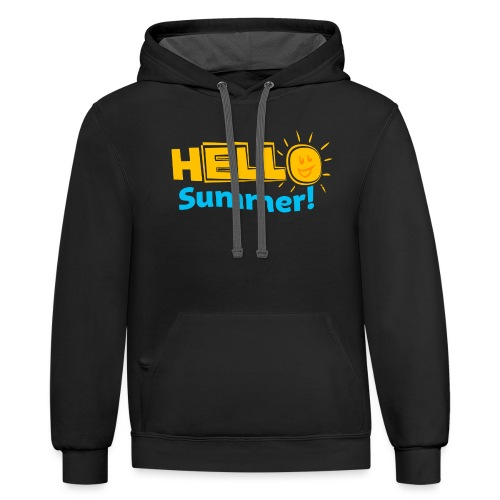 Kreative In Kinder Hello Summer! - Contrast Hoodie