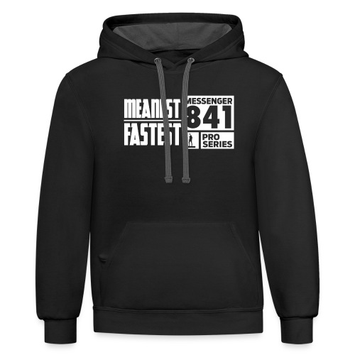 Messenger 841 Meanest and Fastest Crew Sweatshirt - Contrast Hoodie