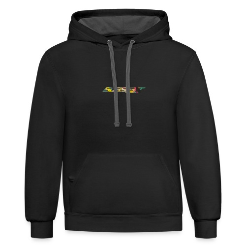 SubSIL3NT Logo Multi Color - Unisex Contrast Hoodie