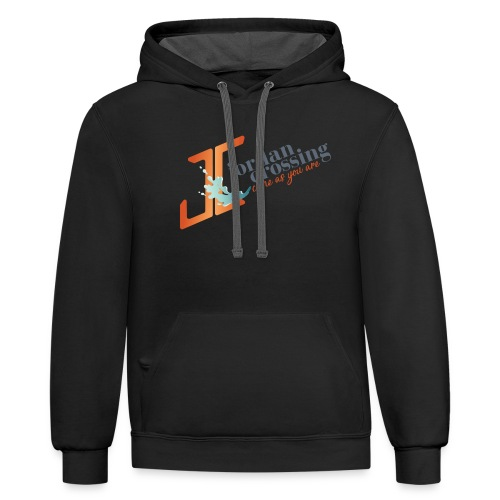 JordanCrossingFINAL 01 - Unisex Contrast Hoodie