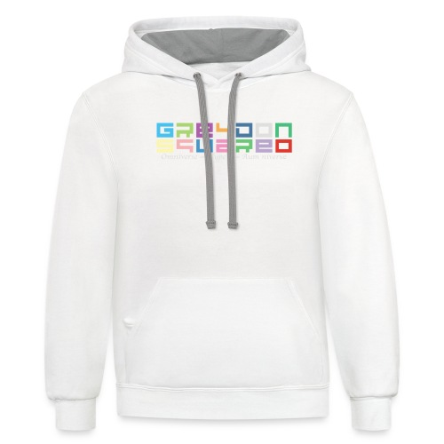 colorfulLOGO2 png - Unisex Contrast Hoodie