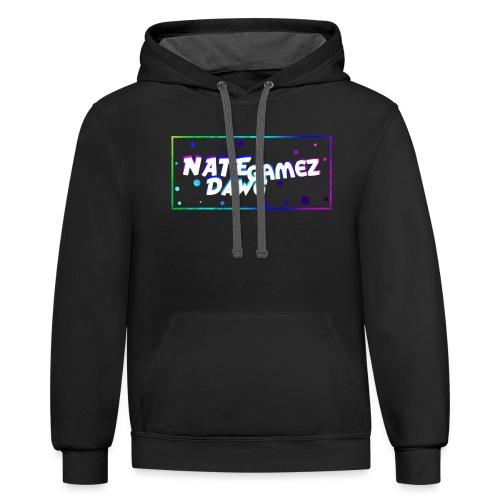 NateDawg Gamez Merch - Unisex Contrast Hoodie