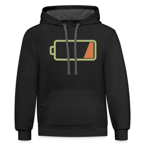 Silicon Valley - Low Battery - Unisex Contrast Hoodie