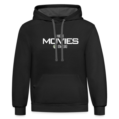 Movie Download - Unisex Contrast Hoodie