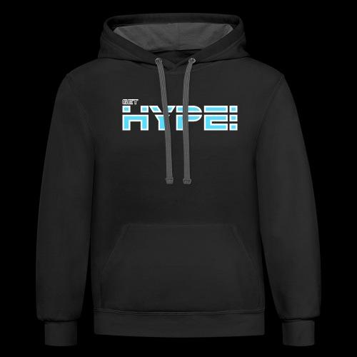 GET HYPED WITH SAKER!!! - Unisex Contrast Hoodie
