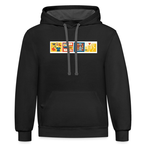 css logo 4th conf - Unisex Contrast Hoodie