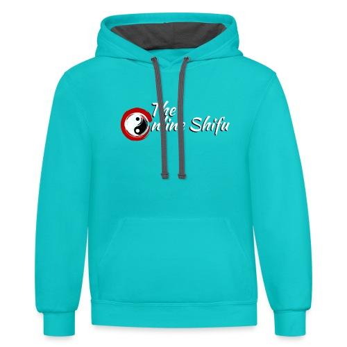 Best Online shifu logo - Contrast Hoodie