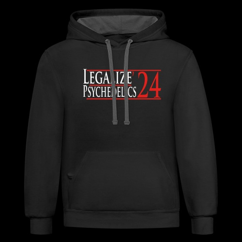 Legalize Psychedelics - Unisex Contrast Hoodie