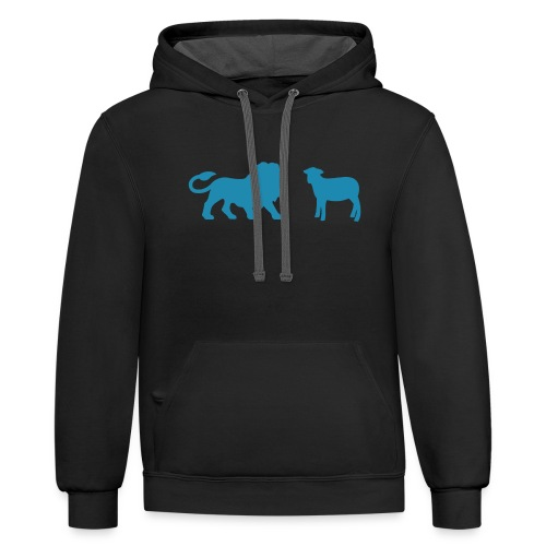 Lion and the Lamb - Unisex Contrast Hoodie