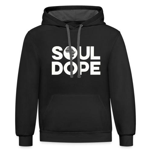 souldope white tee - Contrast Hoodie