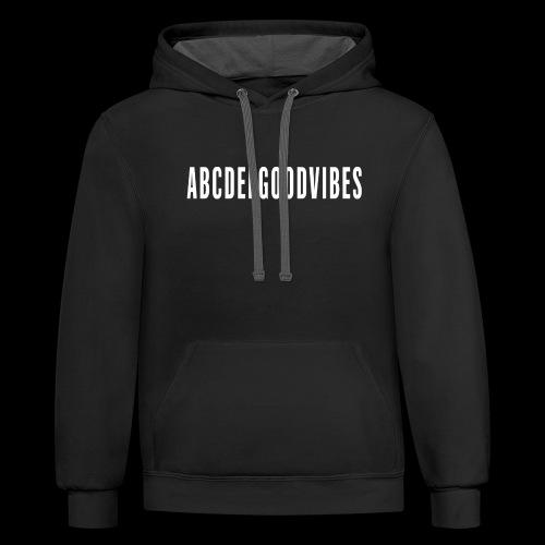 ABCDEFGOODVIBES - Unisex Contrast Hoodie