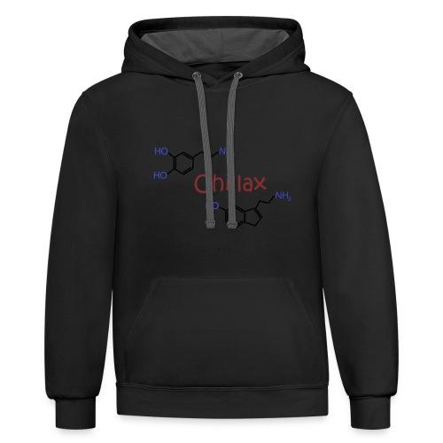 Chillax - happy chemicals (serotonin and dopamine) - Contrast Hoodie