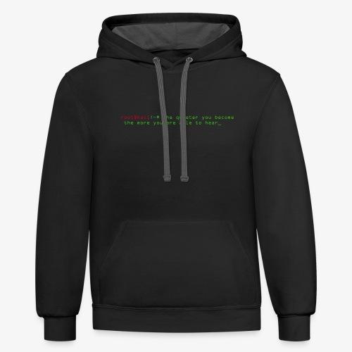 Kali Terminal Slogan - Contrast Hoodie