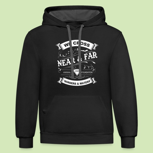 Vintage Near and Far - Unisex Contrast Hoodie