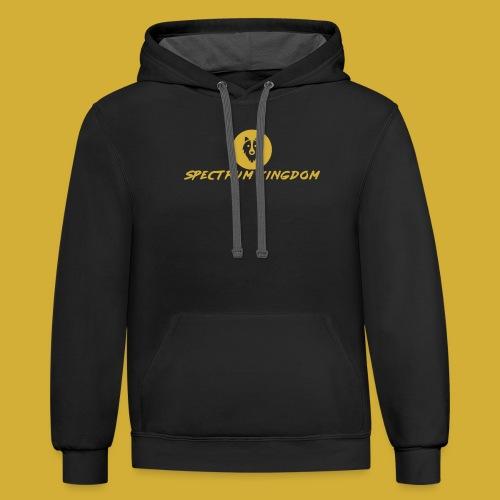 Spectrum Kingdom Gold Logo - Contrast Hoodie