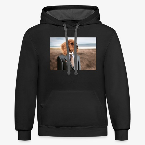 Funny Dog - Contrast Hoodie