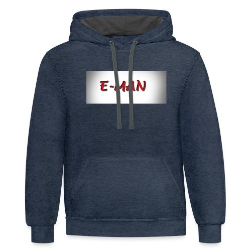 E-MAN - Contrast Hoodie