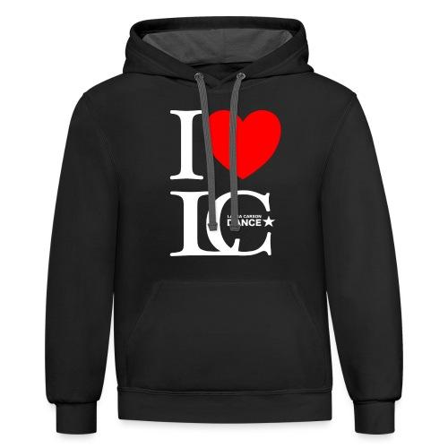 I Heart LCDance - Unisex Contrast Hoodie