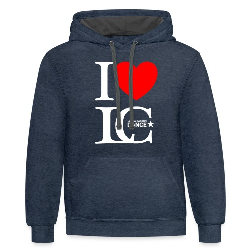 I Heart LCDance - Contrast Hoodie