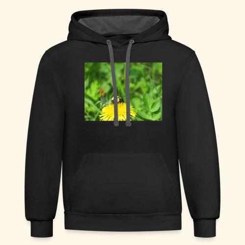 Dandelion Bee - Contrast Hoodie