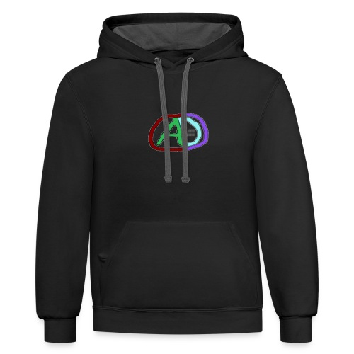 hoodies with anmol and daniel logo - Unisex Contrast Hoodie