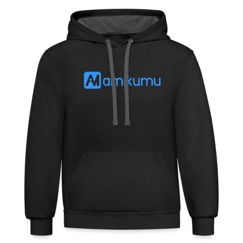 Amikumu Logo Blue - Unisex Contrast Hoodie