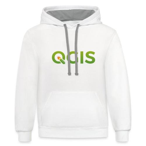 qgis_600dpi_transp_bg - Unisex Contrast Hoodie