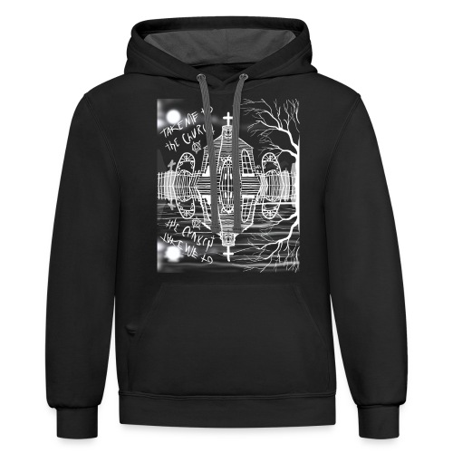 take me to the church - Unisex Contrast Hoodie