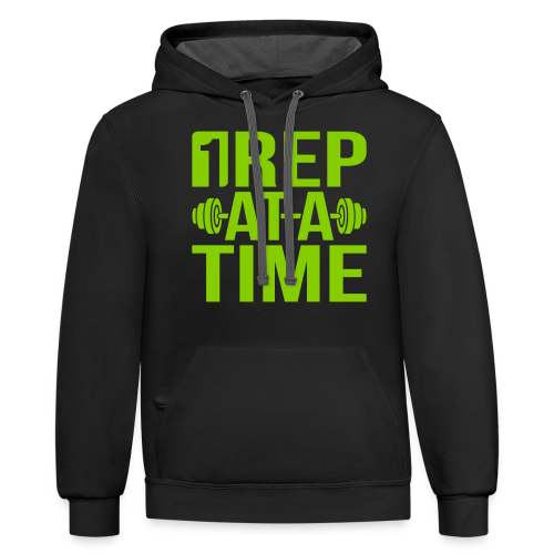 1Rep at a Time - Contrast Hoodie