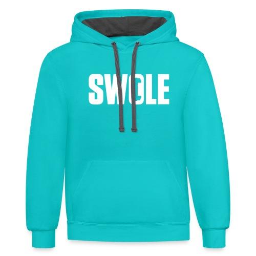 SWOLE - Contrast Hoodie