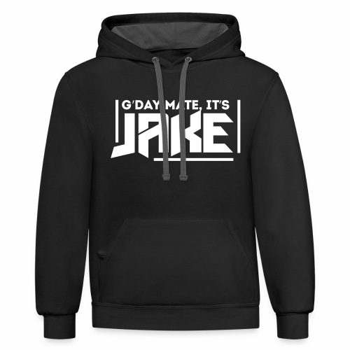 G'Day Mate It's Jake White Logo - Contrast Hoodie