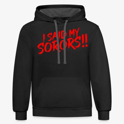 My Sorors Red - Contrast Hoodie