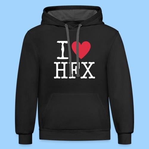 I ❤️ Halifax - Unisex Contrast Hoodie