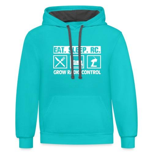 Eat Sleep RC - Grow Radio Control - Unisex Contrast Hoodie