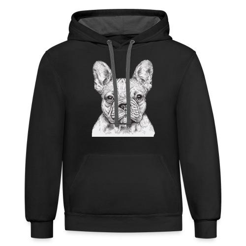 French Bulldog - Contrast Hoodie