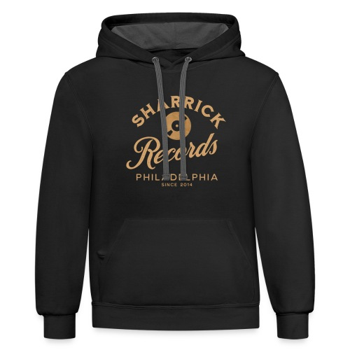 Sharrick Records Official Logo - Unisex Contrast Hoodie